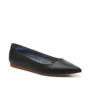Dr. Scholl's Leader Black Pointy Toe Flats